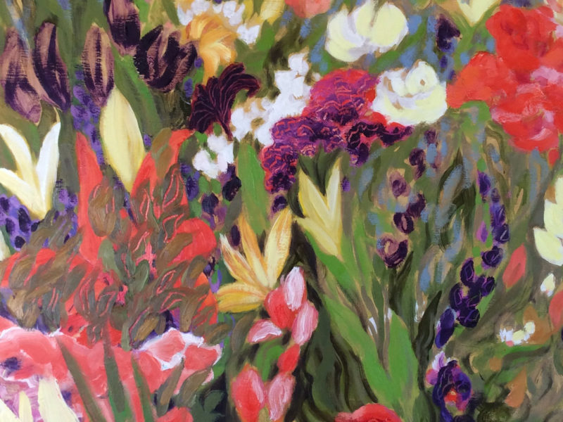 Slideshow image by Catherine Morrisey - stylized painting of a flower garden