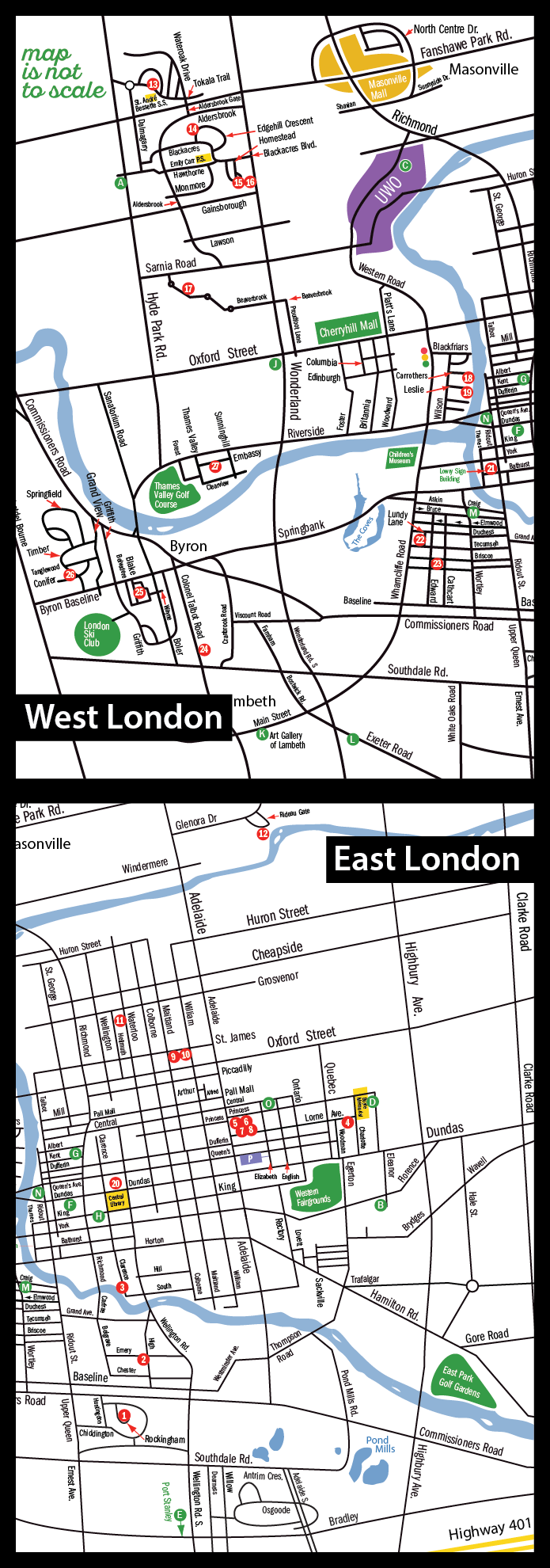 London Artists' Studio Tour map