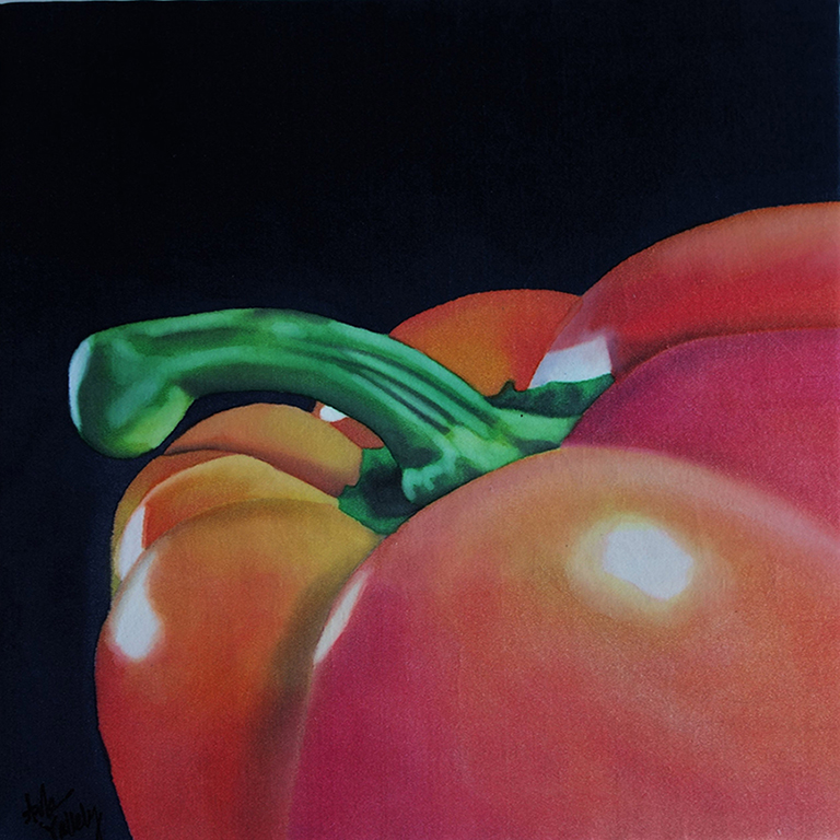 Vallely, Arale - painting of an orange bell pepper