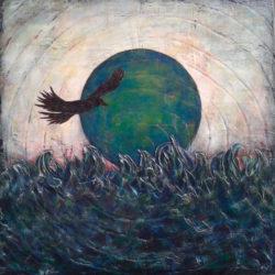 Kaitell, Kim - dark bird flying in front of dark sun