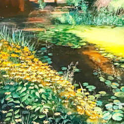 Ghalehpardaz, Bijan - landscape painting