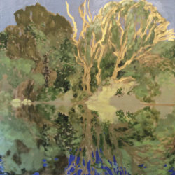 Morrisey, Catherine - painting of trees near a lake