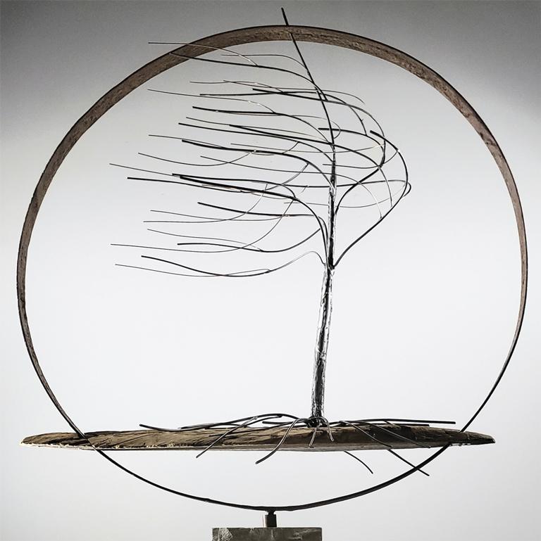 Sturgeon, Richard - metal sculpture of windswept tree