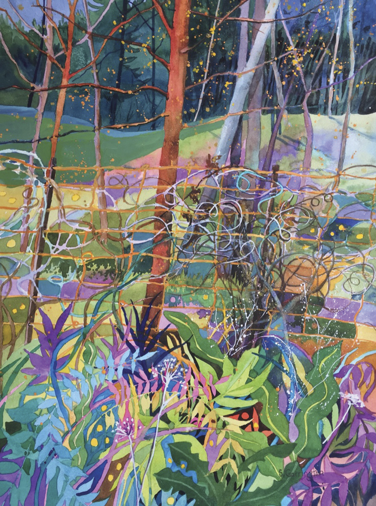 Garrington, Susan - watercolor painting of a forest
